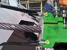 Lubricador Viper para cables de acero